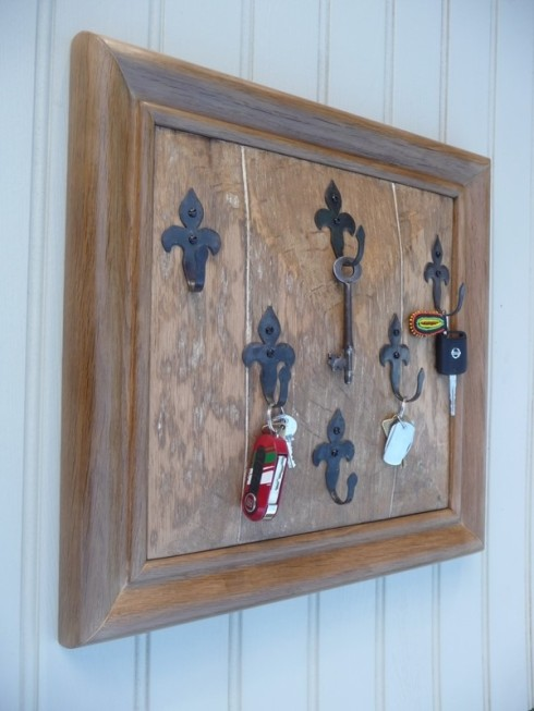 Antique & recycled oak key board from Hooked on Hooks